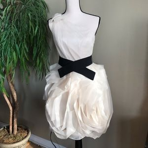 Vera Wang White- one shoulder dress